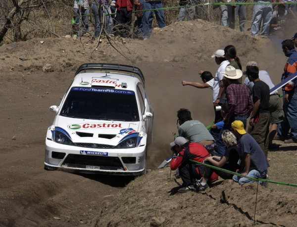 Rally winner Markko Martin (EST) / Michael Park (GBR) Ford Focus RS WRC 03.
