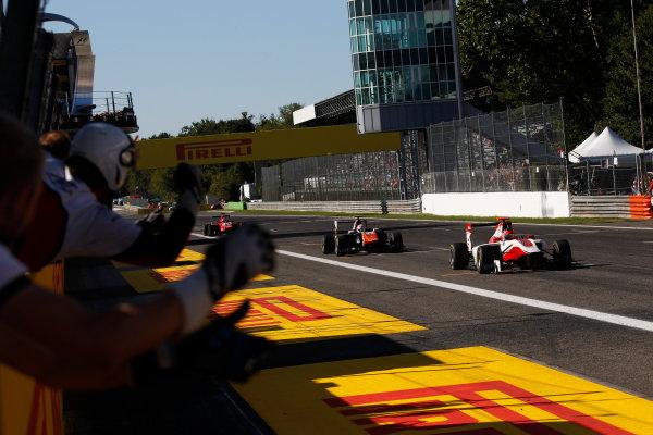 2015 GP3 Series Round 6. Autodromo di Monza, Italy. Sunday 6 September 2015. Esteban Ocon (FRA, ART Grand Prix)  World Copyright: Sam Bloxham/LAT Photographic. ref: Digital Image _G7C1836