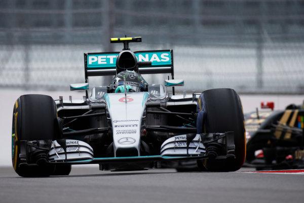 Sochi Autodrom, Sochi, Russia. Friday 9 October 2015. Nico Rosberg, Mercedes F1 W06 Hybrid. World Copyright: Glenn Dunbar/LAT Photographic ref: Digital Image _W2Q9839