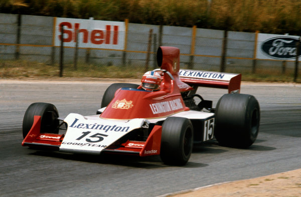 Kyalami, South Africa. 6 March 1976.Ian Scheckter (Tyrrell-Ford 007), retired, action. World Copyright: LAT Photographic.Ref:  76SA23.