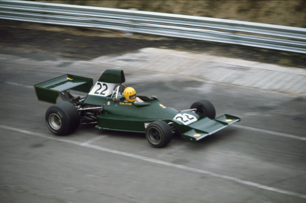 Mosport Park, Canada. 20th - 22nd September 1974. Mike Wilds, Ensign-Ford N174, DNQ, action.  World Copyright: LAT Photographic. Ref: 74CAN13.