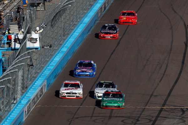 NASCAR XFINITY Series Ticket Galaxy 200 Phoenix Raceway, Avondale, AZ USA Saturday 11 November 2017 Cole Custer, Haas Automation Ford Mustang, Daniel Hemric, Blue Gate Bank Chevrolet Camaro World Copyright: Michael L. Levitt LAT Images