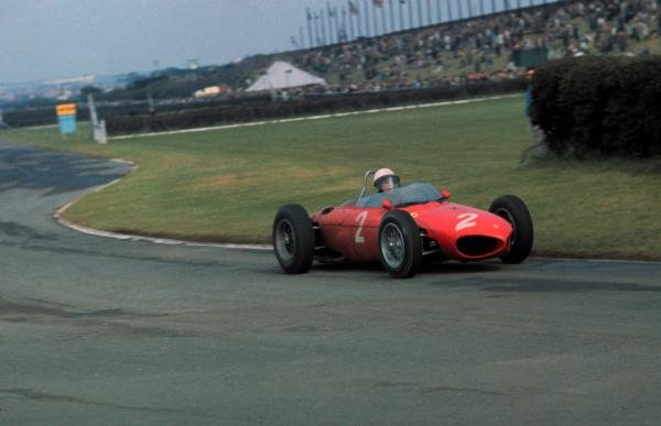 Phil Hill(USA) Ferrari 156, finished 2nd behind team mate Wolfgang von Trips(GER) British GP, Aintree, 15 July 1961