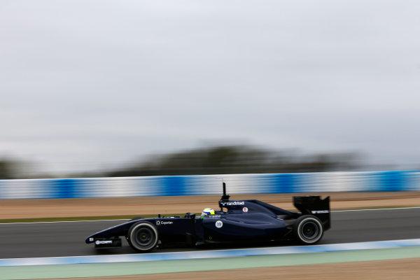 2014 F1 Pre Season Test 1 - Day 4 Circuito de Jerez, Jerez, Spain. Friday 31 January 2014. Felipe Massa, Williams FW36 Mercedes. World Copyright: Andrew Ferraro/LAT Photographic. ref: Digital Image _79P7859.JPG