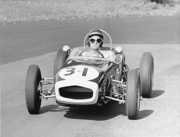 Silverstone, England. Jim Clark, Lotus, action. World Copyright; LAT Photographic. ref: C60072