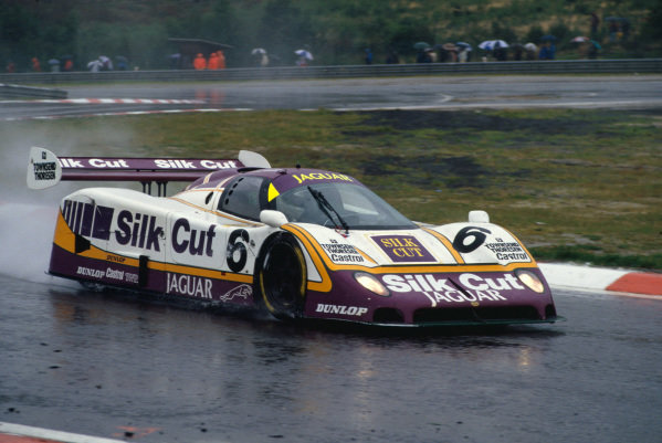 1987 Spa 1000 Kms. Spa-Francorchamps, Belgium. 13th September 1987. Rd 9. Martin Brundle/Johnny Dumfries/Raul Boesel (Jaguar XJR-8), 1st position, action. World Copyright: LAT Images.