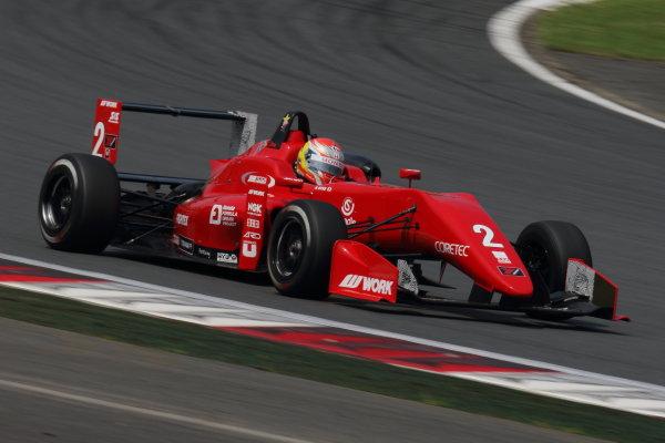 2017 Japanese Formula 3 Championship. Fuji, Japan. 8th - 9th July 2017. Rd 12 & 13. Rd12 2nd position Hiroki Otsu ( #2 TODA RACING ) action World Copyright: Yasushi Ishihara / LAT Images. Ref: 2017JF3_Rd12&13_005