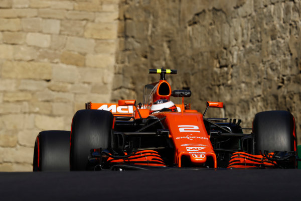Baku City Circuit, Baku, Azerbaijan. Friday 23 June 2017. Stoffel Vandoorne, McLaren MCL32 Honda.  World Copyright: Steven Tee/LAT Images ref: Digital Image _O3I1210