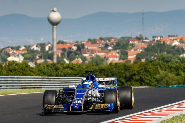 Hungaroring, Budapest, Hungary.  Tuesday 1 August 2017. Gustav Malja, Sauber C36 Ferrari. World Copyright: Joe Portlock/LAT Images  ref: Digital Image _R3I0019