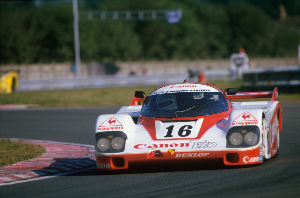 Le Mans, France. 16th -17th  June 1984.Richard Lloyd/Nick Mason/Rene Metge (Porsche 956), retired, action. World Copyright: LAT Photographic.Ref:  84LM06