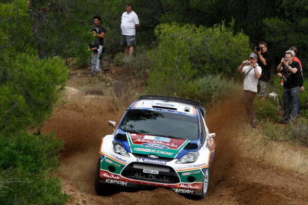 Round 07 Acropolis Rally. 16th - 19th June 2011.Mikko Hirvonen, Ford WRC, Action.Worldwide Copyright: McKlein/LAT