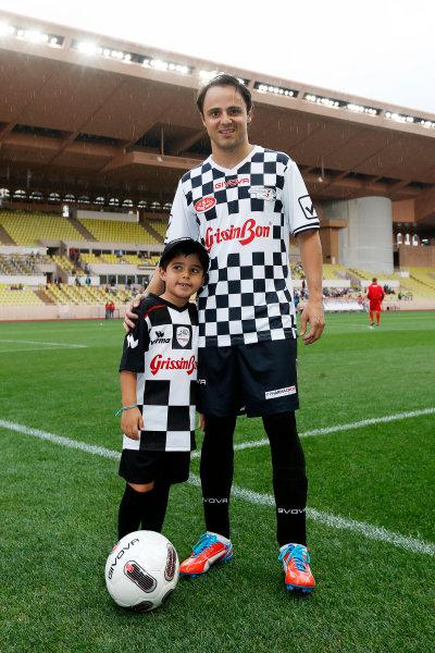 Monte Carlo, Monaco. Tuesday 19 May 2015. Felipe Massa, Williams F1, at the 22nd World Stars football match. World Copyright: Charles Coates/LAT Photographic. ref: Digital Image _J5R5439