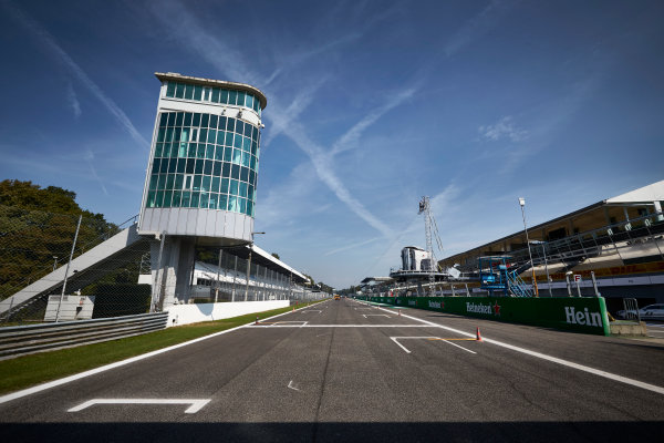 Autodromo Nazionale di Monza, Italy  Thursday 1 September 2016. The pit straight and tower at Monza. World Copyright: Steve Etherington/LAT Photographic ref: Digital Image SNE15069