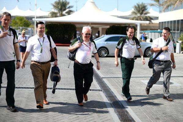 Finbarr O'Connell (GBR) Caterham F1 Team Administrator. Formula One World Championship, Rd19, Abu Dhabi Grand Prix, Race, Yas Marina Circuit, Abu Dhabi, UAE, Sunday 23 November 2014.