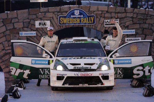2006 FIA World Rally Champs. Round two Swedish Rally.2nd-5th February 2006.Matthew Wilson, Ford, Podium.World Copyright: McKlein/LAT