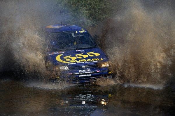 1993 World Rally Championship.Australian Rally, Australia. 18-21 September 1993.Colin McRae/Derek Ringer (Subaru Legacy RS), 6th position.World Copyright: LAT PhotographicRef: 35mm transparency 93RALLY15