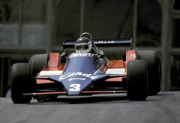 Jean-Pierre Jarier (FRA) Tyrrell 010 crashed out of the race on the opening lap.Monaco Grand Prix, Rd 6, Monte-Carlo, Moncao, 18 May 1980.