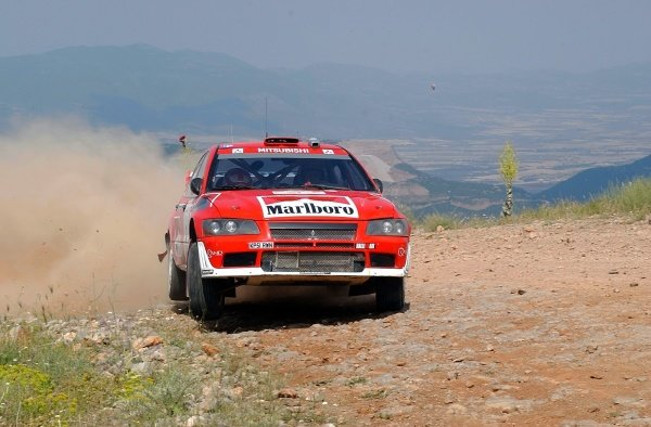 Alister McRae (GBR) Mitsubishi Lancer EVO VII WRC on stage 5.Acropolis Rally, Rd8, Greece, Leg 1, 14 June 2002.DIGITAL IMAGE