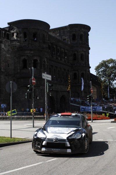Kimi Raikkonen (FIN), Citroen DS3 WRC, on stage 19. World Rally Championship, Rd9, ADAC Rally Deutschland, Trier, Germany. Day Three, Sunday 21 August 2011.