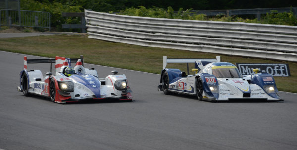 6-7 July, 2012, Lakeville, Connecticut USA#6 Muscle Milk Pickett Racing HPD ARX-03a with #20 Lola(c)2012 Dan R. Boyd LAT Photo USA