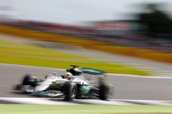 Silverstone, Northamptonshire, UK Friday 8 July 2016. Lewis Hamilton, Mercedes F1 W07 Hybrid. World Copyright: Hone/LAT Photographic ref: Digital Image _ONZ9959