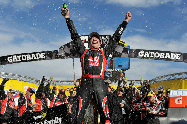 28-30 March, 2014, Martinsville, Virginia USA Kurt Busch celebrates the win in victory lane ©2014 Scott R LePage  LAT Photo USA