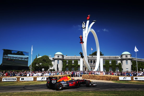 Pierre Gasly (FRA) Red Bull Racing at Goodwood Festival of Speed, Goodwood, England, 30 June - 2 July 2017.