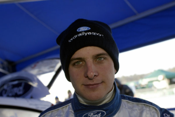 2003 FIA World Rally Championship. Karlstad, Sweden. Rd2.6-9 February 2003.Francois Duval (Ford). World Copyright: McKlein/LAT Photographic