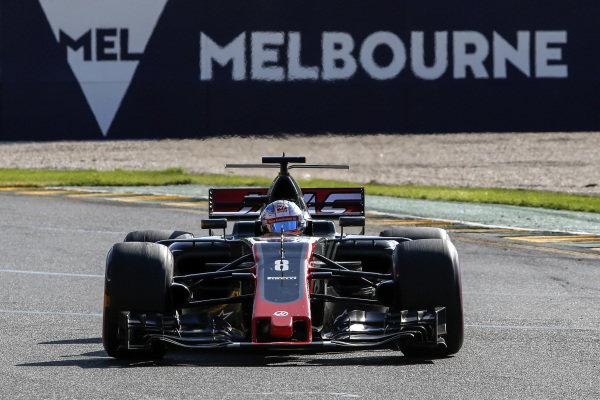 Romain Grosjean (FRA) Haas VF-17 at Formula One World Championship, Rd1, Australian Grand Prix, Race, Albert Park, Melbourne, Australia, Sunday 26 March 2017.