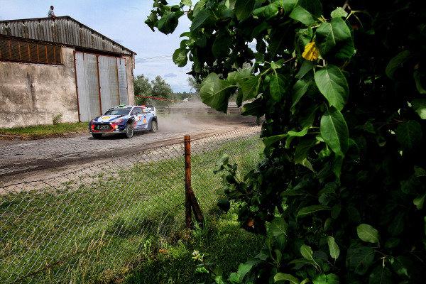 Hayden Paddon (NZL) / Sebastian Marshall (GBR), Hyundai Motorsport i20 Coupe WRC at World Rally Championship, Rd8, Rally Poland, Day Three, Mikolajki, Poland, 2 July 2017.