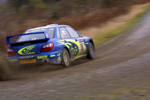 2001 FIA World Rally Championship.Rally Of Great Britain. Cardiff, Wales. November 22-25th.Markko Martin, Subaru Impreza WRCStage Five.Photo: Paul Dowker/LAT Photographic.World - LAT Photographic.8 9mb DIgital File Only