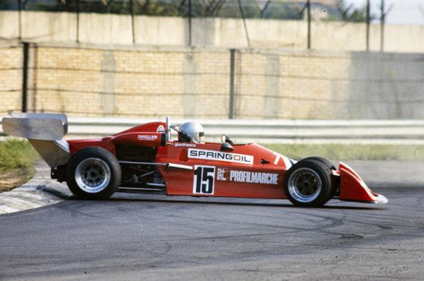 Gianfranco Trombetti, Chevron B35 BMW, goes for a spin.