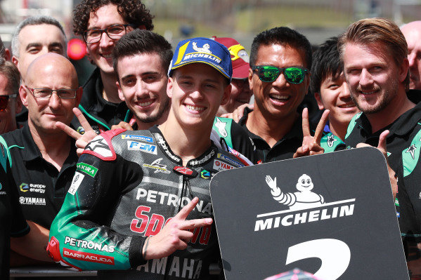 Second place Fabio Quartararo, Petronas Yamaha SRT.