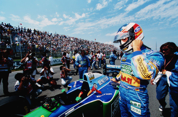 1994 Canadian Grand Prix.Montreal, Quebec, Canada.10-12 June 1994.Michael Schumacher (Benetton B194 Ford) 1st position.Ref-94 CAN 07.World Copyright - LAT Photographic