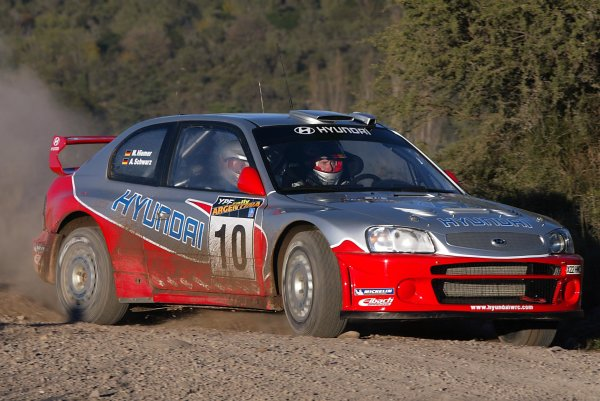 2003 FIA World Rally Champs. Round Five, Argentina,  8th-11th May 2003 Armin Schwarz, Hyundai action. World Copyright: McKlein/LAT