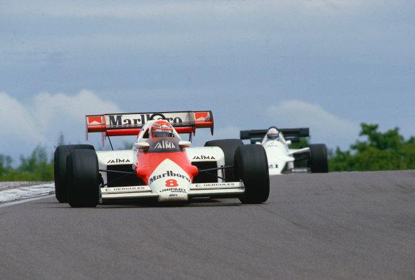 1984 French Grand Prix.Dijon-Prenois, France.18-20 May 1984.Niki Lauda (McLaren MP4/2 TAG Porsche) 1st position.Ref-84 FRA 28.World Copyright - LAT Photographic