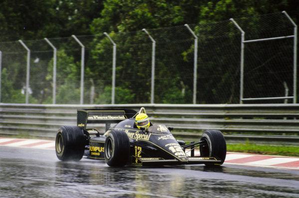 Ayrton Senna, Lotus 97T Renault.