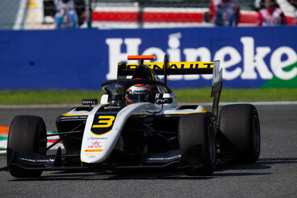AUTODROMO NAZIONALE MONZA, ITALY - SEPTEMBER 07: Christian Lundgaard (DNK, ART Grand Prix) during the Monza at Autodromo Nazionale Monza on September 07, 2019 in Autodromo Nazionale Monza, Italy. (Photo by Joe Portlock / LAT Images / FIA F3 Championship)