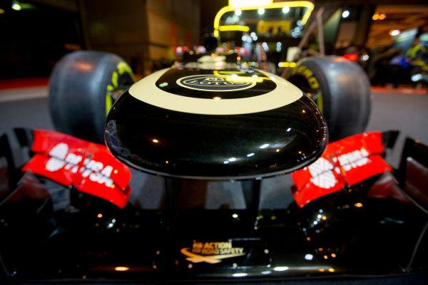 Autosport International Exhibition.  National Exhibition Centre, Birmingham, UK. Thursday 14 January 2016.  Lotus F1 car on the F1 Racing stand. World Copyright: Sam Bloxham/LAT Photographic. ref: Digital Image _SBL5345