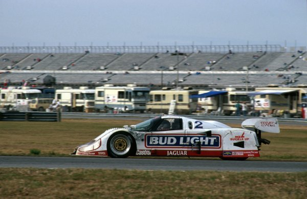 David Brabham (AUS) TWR Jaguar XJR-12D, 2nd place.
