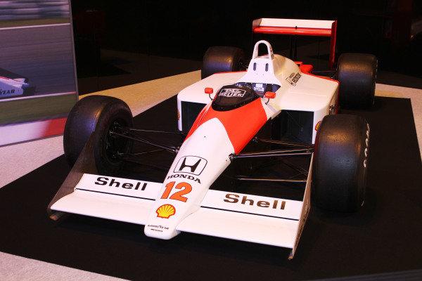 NEC, Birmingham. 12th - 15th January 2012. Ayrton Senna tribute. 1988 McLaren MP4/4 Honda. World Copyright: Kevin Wood/LAT Photographic ref: Digital Image IMG_9570a