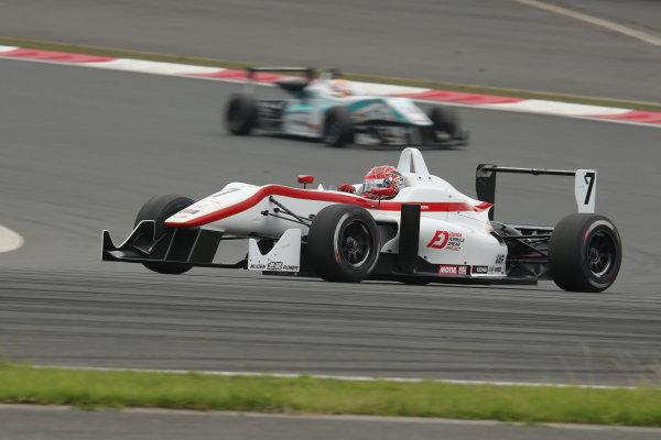 2014 All-Japan F3 Championship. Fuji, Japan. 11th - 13th July 2014. Rd 4. Race 2 - Winner Nobuharu Matsushita ( #7 HFDP RACING ) action. World Copyright: Yasushi Ishihara / LAT Photographic. Ref: 2014JF3_Rd8&9_023.JPG