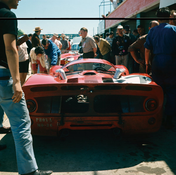 Sebring, Florida, USA.26 March 1966.Mike Parks/Bob Bondurant, Ferrari 330P3, retired, pit lane.World Copyright: LAT PhotographicRef: