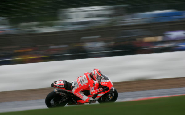 British Grand Prix.  Silverstone, England. 10th-12th June 2011.  Nicky Hayden, Ducati. Action.  World Copyright: Kevin Wood/LAT Photographic.  ref: Digital Image