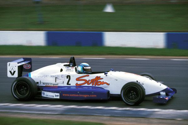 Kimi Raikkonen (FIN) Manor Motorsport won all the races in the series. Formula Renault Winter Series, Donington Park, England, 21 November 1999.
