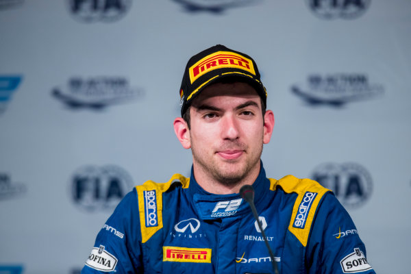 2017 FIA Formula 2 Round 10. Circuito de Jerez, Jerez, Spain. Sunday 8 October 2017. Nicholas Latifi (CAN, DAMS).  Photo: Zak Mauger/FIA Formula 2. ref: Digital Image _56I7931