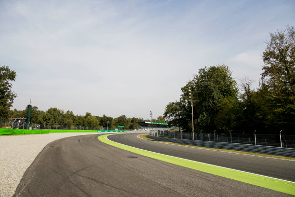 2017 GP3 Series Round 6.  Autodromo Nazionale di Monza, Monza, Italy. Thursday 31 August 2017. A view of Parabolica. Photo: Zak Mauger/GP3 Series Media Service. ref: Digital Image _56I4932