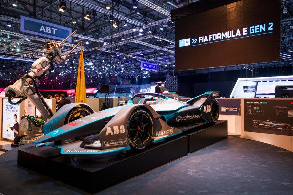 2017/2018 FIA Formula E Championship. Geneva Motor Show Tuesday 6 March 2018. The FIA Formula-E Gen2 car is unveiled. Photo: Sam Bloxham/LAT/Formula E ref: Digital Image _W6I3917