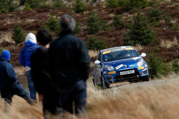 2013 MSA British Rally Championship, Pirelli Richard Burns Foundation Rally, Carlisle. 4th - 5th May 2013. Benjamin Mckay / Jason Mackay Renault Twingo. World Copyright: Ebrey / LAT Photographic.