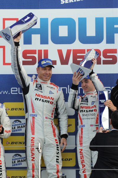 2015 European LeMans Series, Silverstone 10th-11th April 2015 P3 winners, Chris Hoy / Charlie Roberstson Ginetta Nissan,  World Cpyright. Jakob Ebrey/LAT Photographic